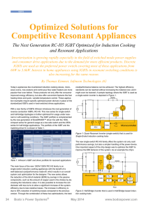Optimized Solutions for Competitive Resonant Appliances