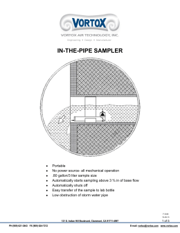 in-the-pipe sampler - Vortox Air Technology