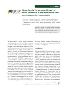 Measuring the Environmental Impact of Power Generation at GSM
