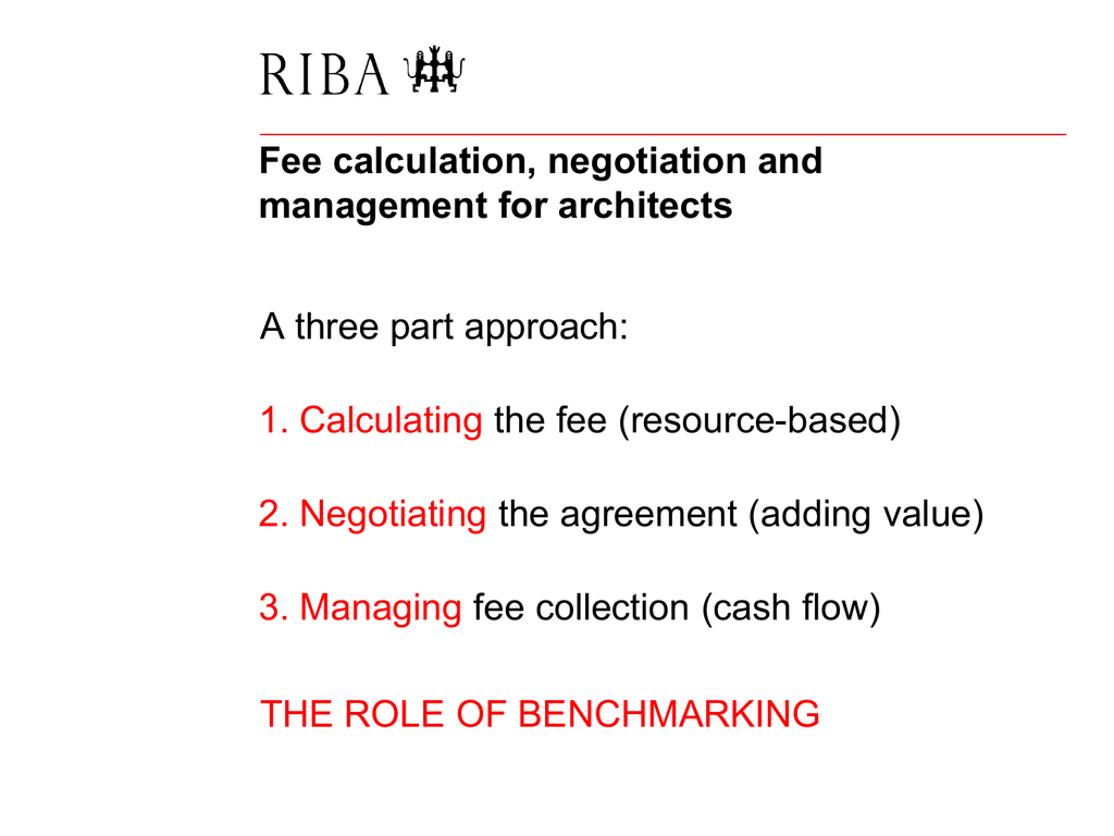 Fee Calculation Negotiation And Management For