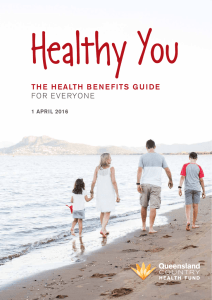 Health Benefits Guide - Queensland Country Health Fund