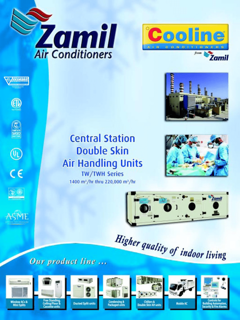 TW series - Zamil Air Conditioners India