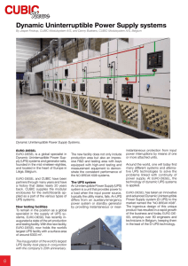 Dynamic Uninterruptible Power Supply systems - EURO