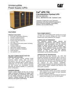 Uninterruptible Power Supply (UPS) Cat UPS 750