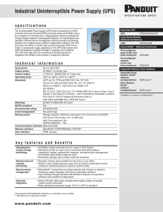 Industrial Uninterruptible Power Supply (UPS)