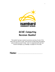 GCSE Computing Revision Booklet
