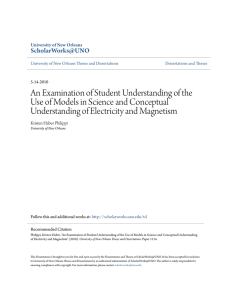 An Examination of Student Understanding of the Use of Models in