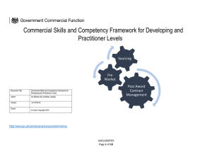 Commercial Professional Skills and Competency Framework