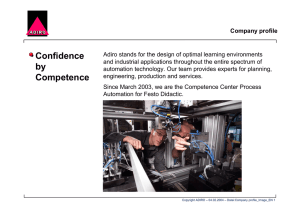 Confidence by Competence