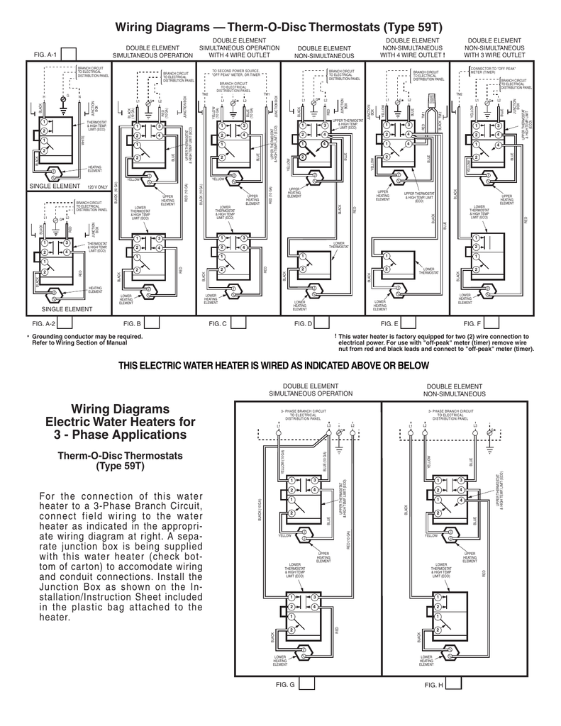Wiring Diagrams Electric Water Heaters For 3
