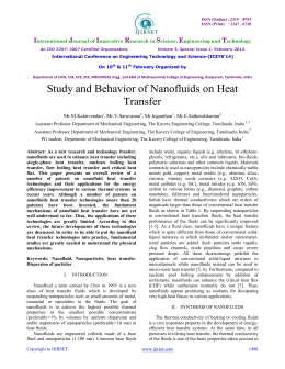 Study and Behavior of Nanofluids on Heat Transfer