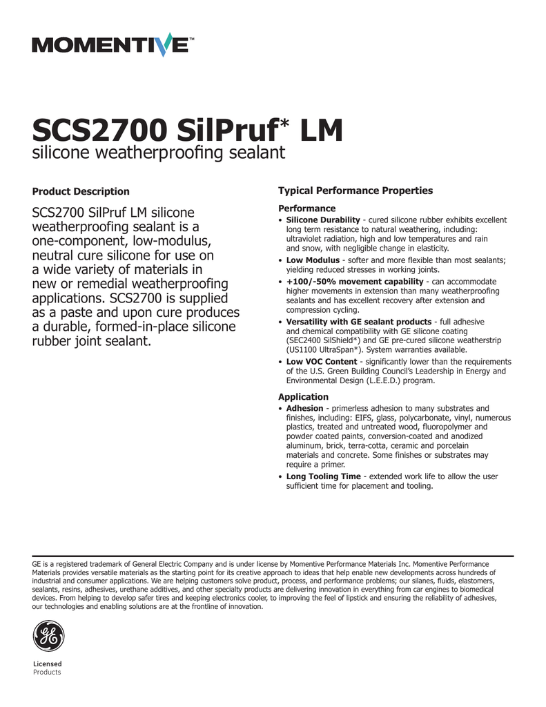 SCS2700 SilPruf* LM