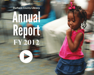 FY 2012 - Durham County Library