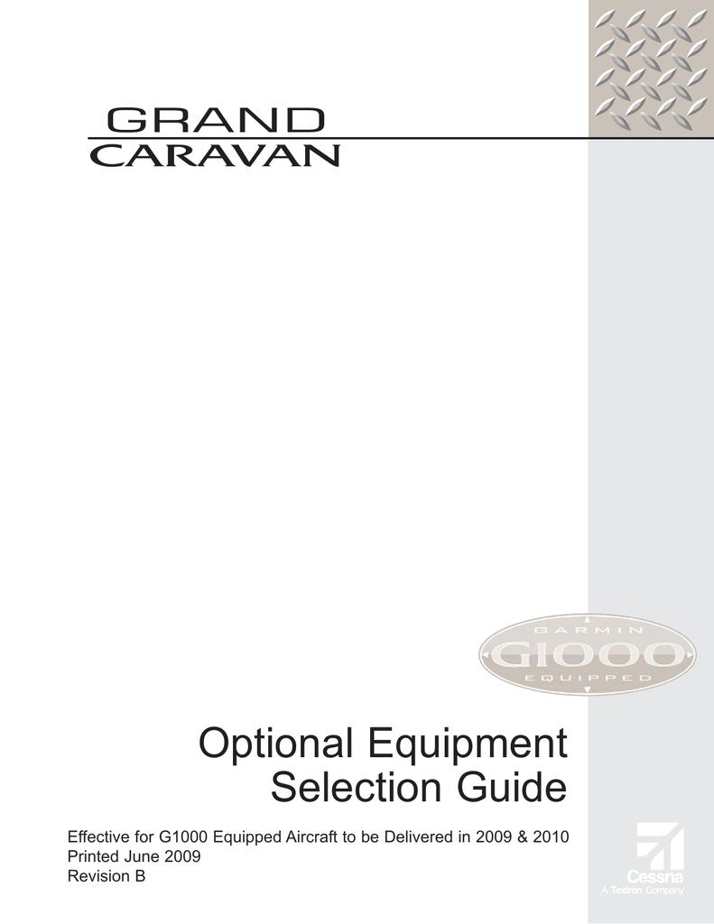 cessna caravan optional equipment selection guide rh studylib net Toyota Optional Equipment ADT Equipment Optional