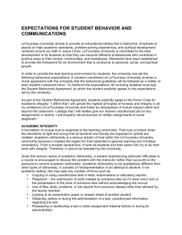 expectations for student behavior and communications