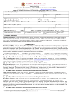 Registration Form - The Alabama Fire College