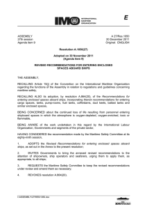 ASSEMBLY 27th session Agenda item 9 A 27/Res.1050 20