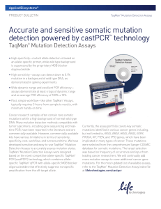 TaqMan® Mutation Detection Assays