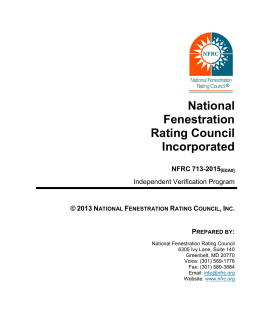 the latest copy of the NFRC 713-2015