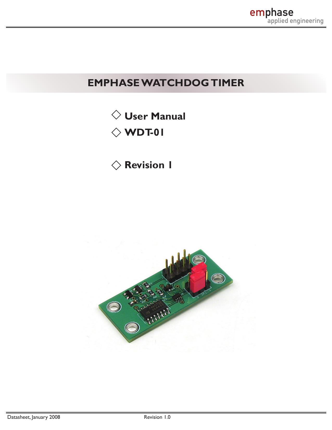 Data Sheet Electronic Watchdog Circuit