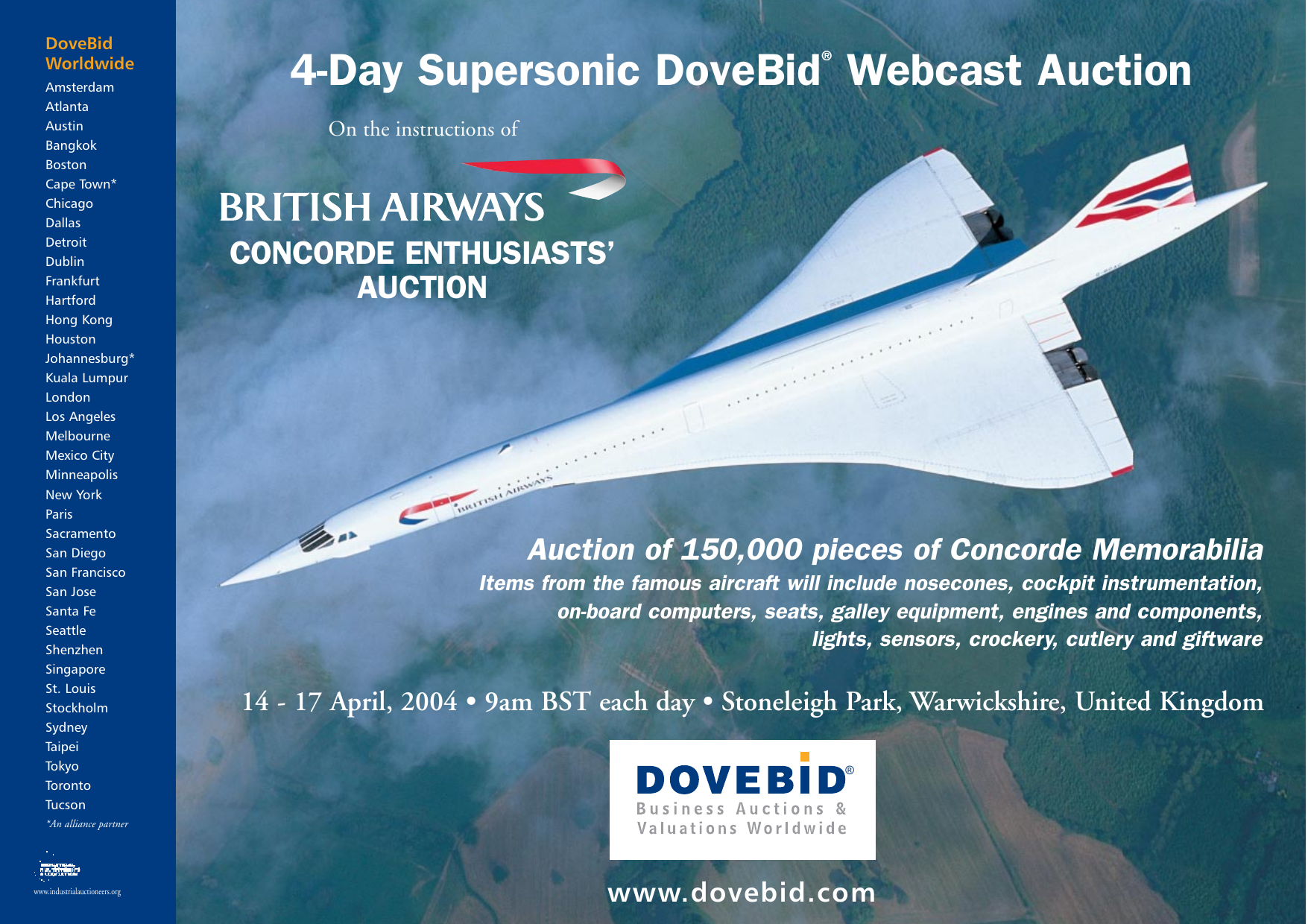 4 Day Supersonic Dovebid Webcast Auction