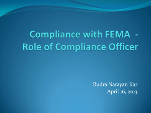 Compliance with FEMA- Role of Compliance Officer