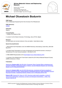 Michael Oluwatosin Bodunrin - University of the Witwatersrand