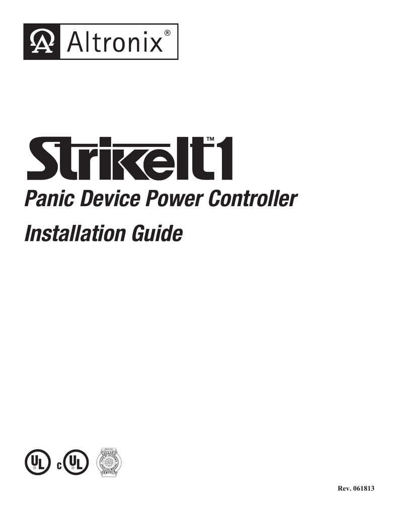 Panic Device Power Controller Installation Guide Altronix Timer Relay Wiring Diagram 018514687 1 2b99ba68e7ff1fe5833ff246f01d31e2