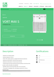 VORT MAX S - Vortice ventilation, fans and air conditioners