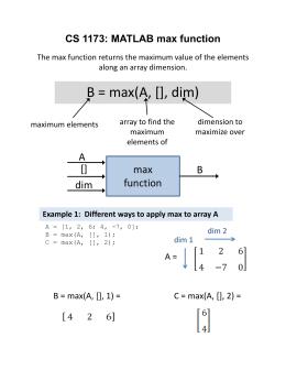 MATLAB max function