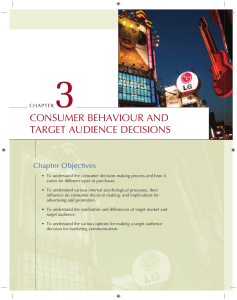 Chapter 3 Consumer Behaviour and Target Audience Decisions