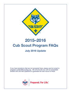 Cub Scout Program FAQs - Boy Scouts of America