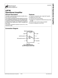 LM748 Operational Amplifier