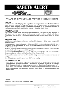 Failure of earth leakage protection results in fire
