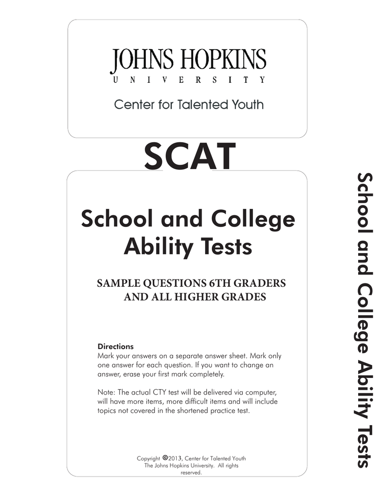 School And College Ability Tests
