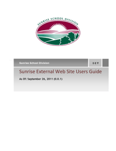 Sunrise External Web Site Users Guide