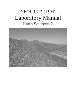 Laboratory Manual - UTEP :: Geological Sciences
