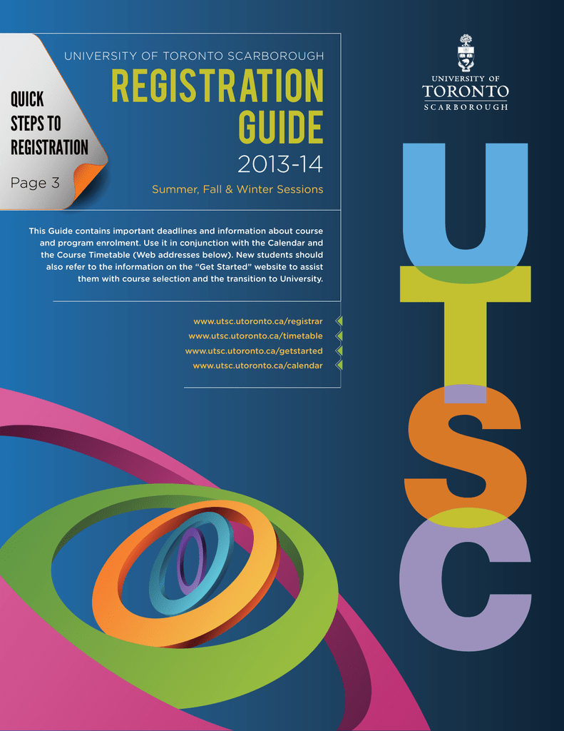 registration guide - University of Toronto Scarborough