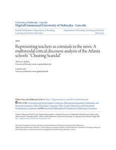 Representing teachers as criminals in the news