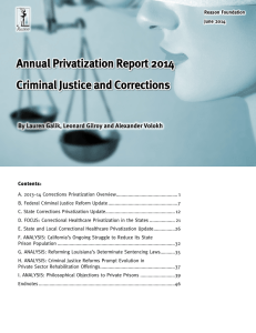 Annual Privatization Report 2014: Criminal Justice and Corrections