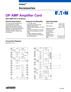 OP AMP Amplifier Card