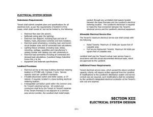 Electrical System Design Criteria