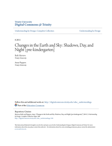 Changes in the Earth and Sky: Shadows, Day, and Night [pre