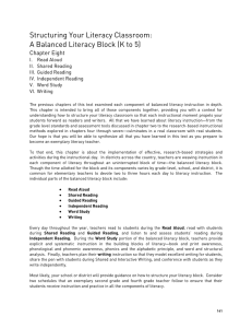 Structuring Your Literacy Classroom