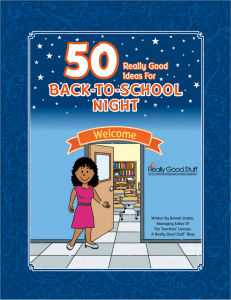 50 Really Good Ideas For Back-To-School-Night