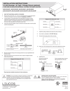 Installation instructions - Chicago Plenum