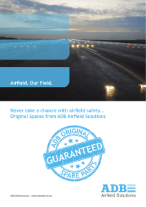 Spare Parts brochure. - ADB Airfield Solutions