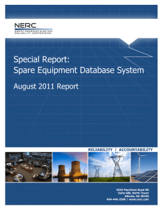 Special Report: Spare Equipment Database System
