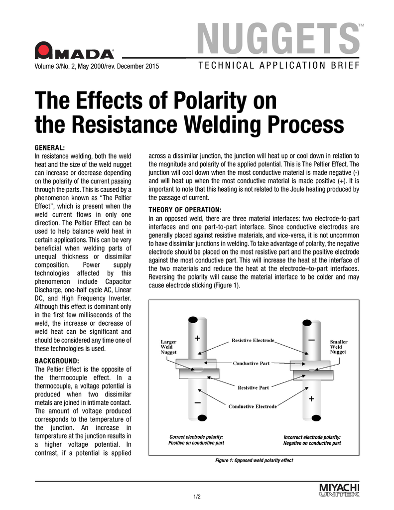 The Effects of Polarity on the Resistance Welding Process
