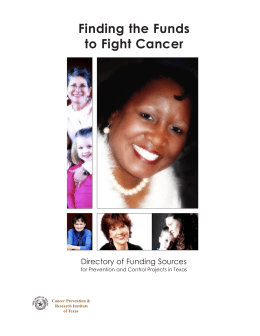 Finding the Funds to Fight Cancer